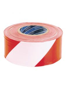 Draper - 75mm x 500M Red and White Barrier Tape Roll