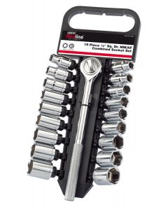 """Draper - 1/2"""" Sq. Dr. MM/AF Combined Socket Set (19 Piece)"""