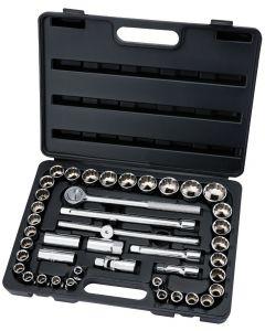 """Draper - 1/2"""" Sq. Dr. MM/AF Combined Socket Set (42 Piece)"""