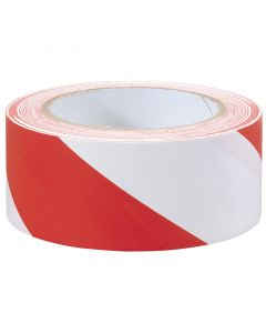 Draper - 33M x 50mm Red and White Hazard Tape Roll