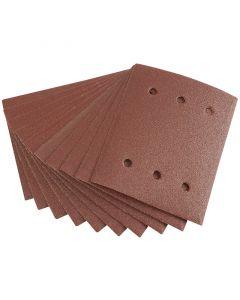 Draper - Ten 115 x 145mm 80 Grit Aluminium Oxide Sanding Sheets