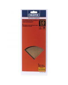 Draper - 10 x Glasspaper Sheet Assortment 280 x 115mm