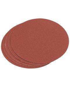 Draper - Five 120 Grit Aluminium Oxide Sanding Discs (150mm)