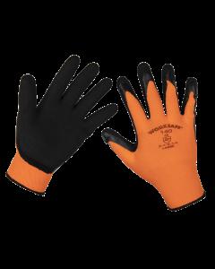 Sealey Foam Latex Gloves (Large) - Pair