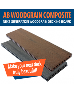 AB Composite Woodgrain Effect Decking Boards