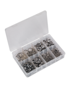 Sealey O-Clip Single Ear Assortment 160pc Stainless Steel