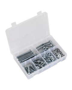 Setscrew, Nut & Washer Assortment 220pc High Tensile M8 Metric