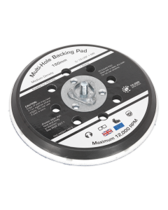 "Universal Dust-Free Stick-On DA Backing Pad Ø150mm x 5/16""UNF & M8"