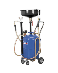 Mobile Oil Drainer with Probes 35L Air Discharge