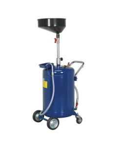 Mobile Oil Drainer 110L Air Discharge