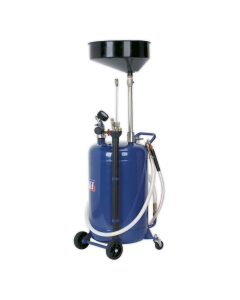 Mobile Oil Drainer with Probes 90L Air Discharge