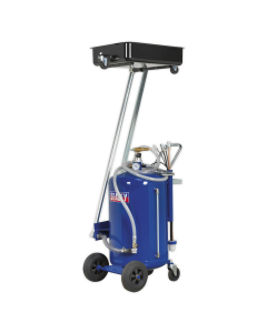 Mobile Oil Drainer with Probes 80L Cantilever Air Discharge