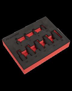 "Sealey Low Profile Impact Hex Socket Bit Set 1/4"" & 3/8"" Sq Drive 9"