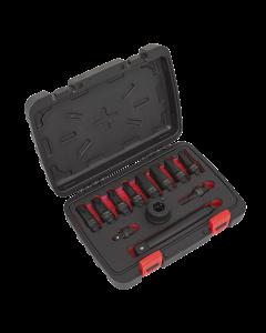 "Sealey Impact Socket Bit & Accessories Set 12pc 3/4""Sq Drive"