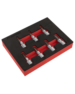 "Sealey Hex Socket Bit Set 7pc 3/8""Sq Drive - Imperial"