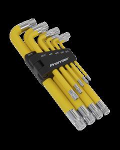Sealey Jumbo Spline Key Set 9pc Anti-Slip