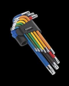Sealey TRX-Star* Key Set 9pc Colour-Coded Long