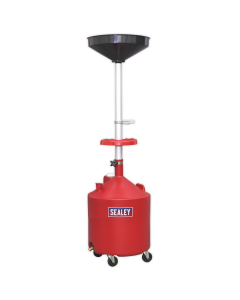 Mobile Oil Drainer 80L Gravity Discharge