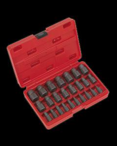 Sealey Multi-Spline Screw Extractor Set 25pc
