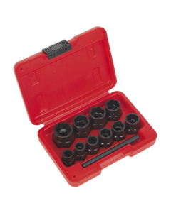 """Sealey Bolt Extractor Set 11pc 3/8""""Sq Drive or Spanner"""