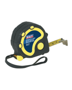 Sealey Rubber Tape Measure 5m(16ft) x 19mm - Metric/Imperial