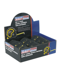 Sealey Rubber Tape Measure 5m(16ft) x 19mm Metric/Imperial Display