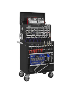 Sealey Topchest & Rollcab Combination 10 Drawer with Ball Bearing S APCOMBOBBTK56