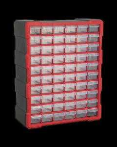 Sealey Cabinet Box 60 Drawer - Red/Black