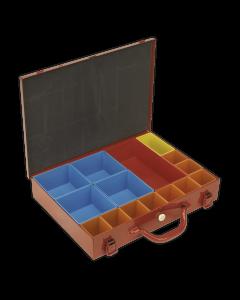 Sealey Metal Case with 15 Storage Bins
