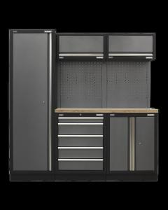 Modular Storage System Combo - Pressed Wood Worktop APMSSTACK02W