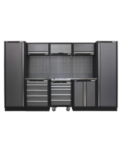 Modular Storage System Combo - Stainless Steel Worktop APMSSTACK03SS
