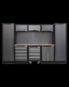 Modular Storage System Combo - Pressed Wood Worktop APMSSTACK03W
