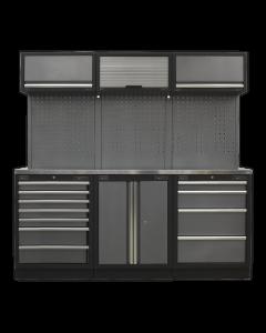 Modular Storage System Combo - Stainless Steel Worktop APMSSTACK07SS