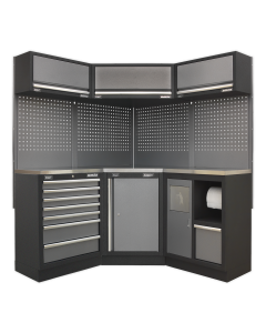 Modular Storage System Combo - Stainless Steel Worktop APMSSTACK08SS