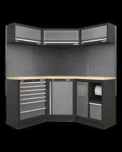 Modular Storage System Combo - Pressed Wood Worktop APMSSTACK08W