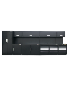 Complete Modular Workshop Storage Combination - Stainless Steel Worktop