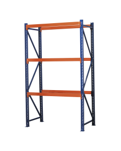 Heavy-Duty Shelving Unit with 3 Beam Sets 900kg Capacity Per Level