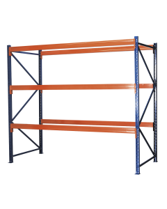 Heavy-Duty Racking Unit with 3 Beam Sets 1000kg Capacity Per Level