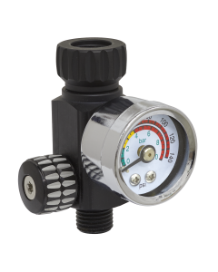 Sealey On-Gun Air Pressure Regulator/Gauge