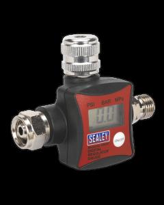 Sealey On-Gun Air Pressure Regulator/Gauge Digital
