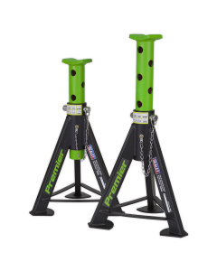 Axle Stands (Pair) 6tonne Capacity per Stand - Green