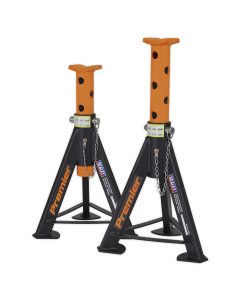 Axle Stands (Pair) 6tonne Capacity per Stand - Orange