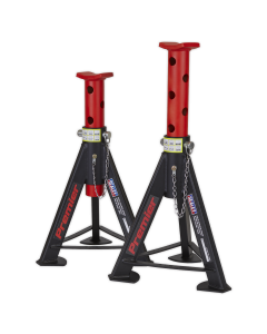 Axle Stands (Pair) 6tonne Capacity per Stand - Red