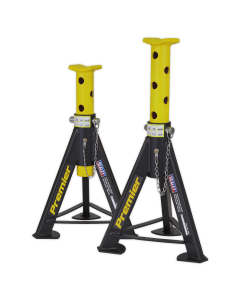 Axle Stands (Pair) 6tonne Capacity per Stand - Yellow