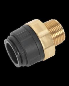 "Straight Adaptor 28mm x 1""BSPT Brass (John Guest Speedfit® - MM012808N)"