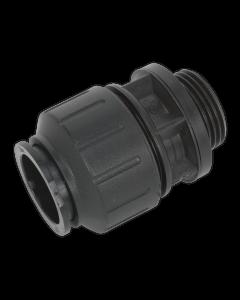 "Straight Adaptor 28mm 1""BSP Pack of 2 (John Guest Speedfit® - PM012818E)"