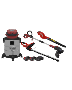 Sealey Garden Power Tool Kit 20V - 2 Batteries