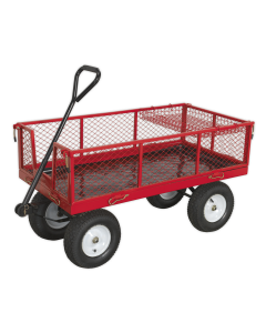 Sealey Platform Truck with Sides Pneumatic Tyres 450kg Capacity