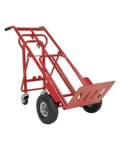 Sealey Sack Truck 3-in-1 with Pneumatic Tyres 250kg Capacity