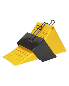 Wheel Chock with Bracket Single - Commercial